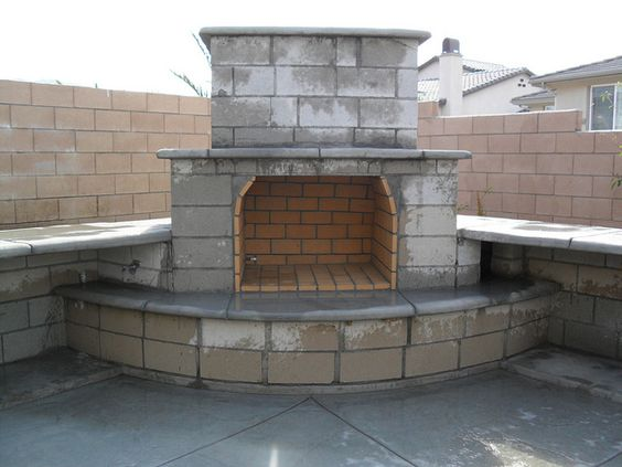 Fireplaces, Outdoor fireplaces and Outdoor fireplace plans ... on Outdoor Fireplace With Cinder Blocks id=32850