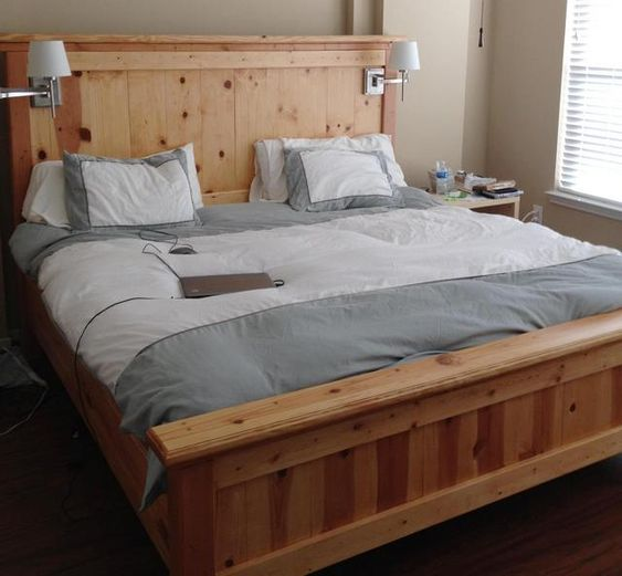 California King Bed Frame King Beds And Bed Frame Plans On Pinterest