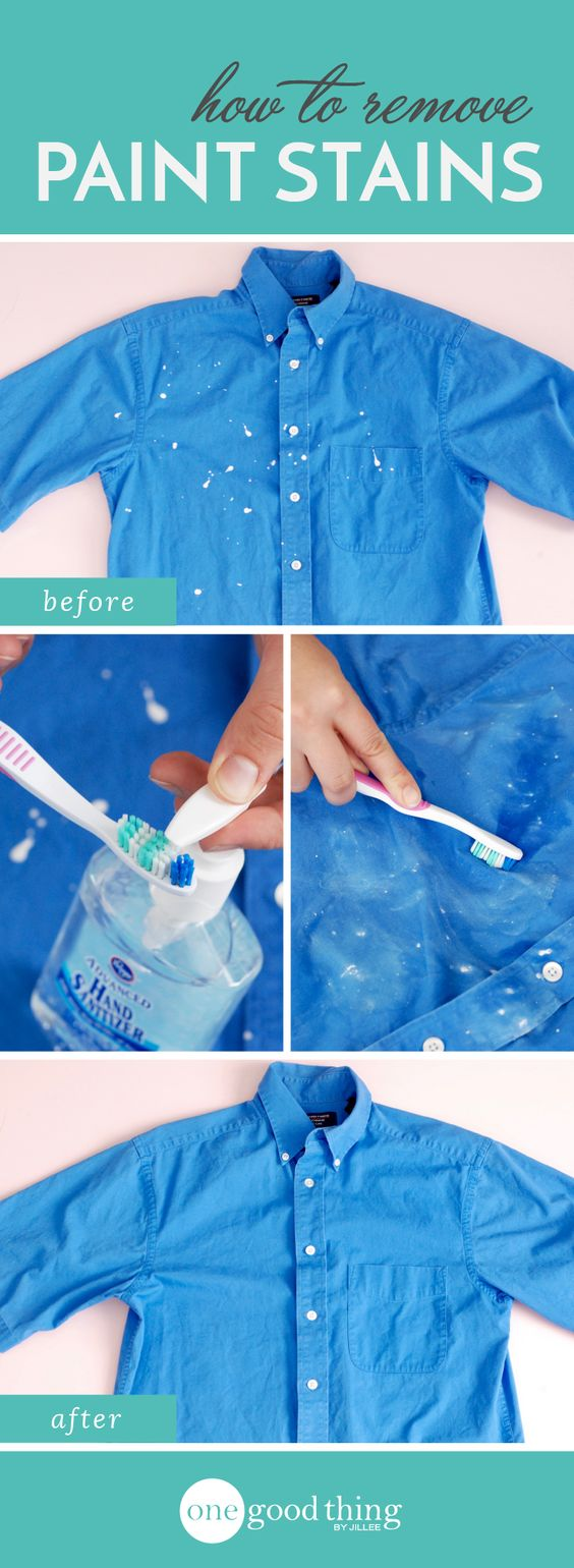 How To Remove Paint Splatters And Rescue Your Clothes: