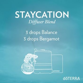 In need of a vacation? Take a staycation with the relaxing and energizing scent of this diffuser blend.: