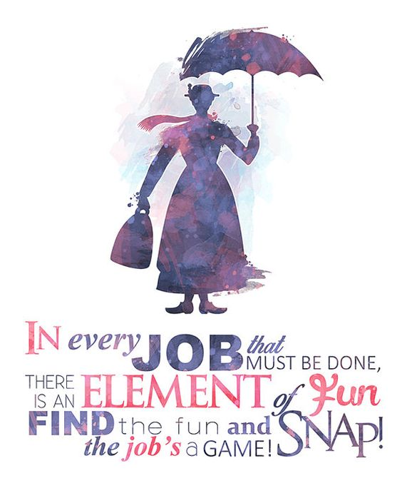 Spoonful Of Sugar Mary Poppins 8x10 Poster DIGITAL