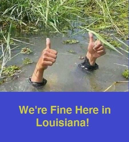 Humor even during a flood2016: