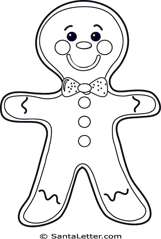 christmas gingerbread man coloring pages  god's