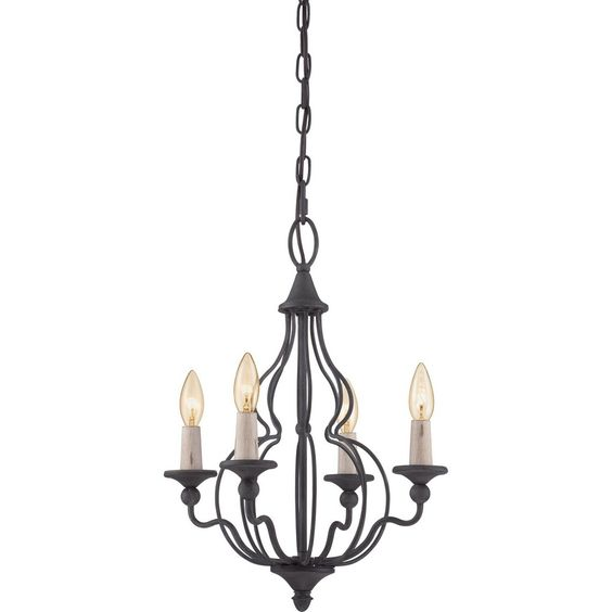 Quoizel Lighting Experts Canyon Four Light Chandelier