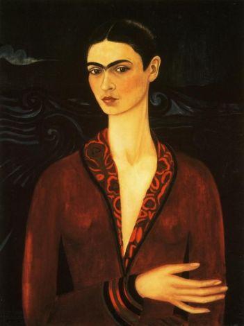 Frida Kahlo. Self Portrait. 1926. (Again... this work of Frida, reminds me of Modigliani) LOVE IT.: