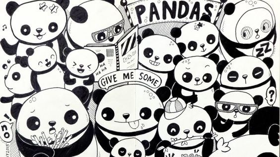 PANDAS Moleskine Doodle By PicCandle Wwwyoutubecom