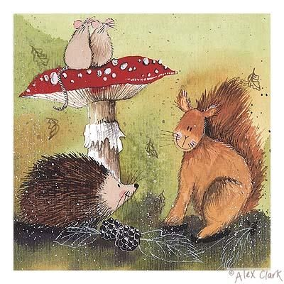 Hedgehog And Squirrel By Alex Clark Illustration Alex
