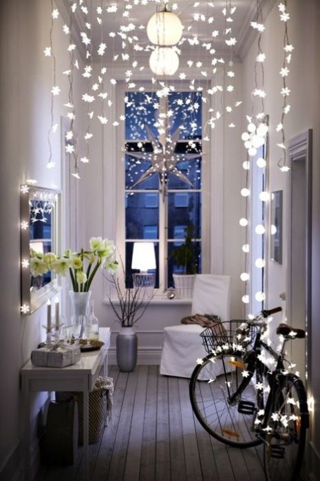 Fairy lights are a great way to make your dorm room fancy AF!