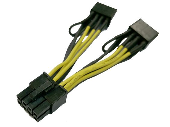 Nvidia 030-0571-000 Tesla K80 GPU Power Cable 8 Pin To 2x