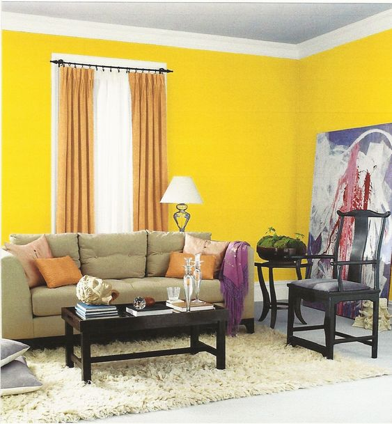 interior designs beautiful small space yellow paint color on interior color design ideas id=24776