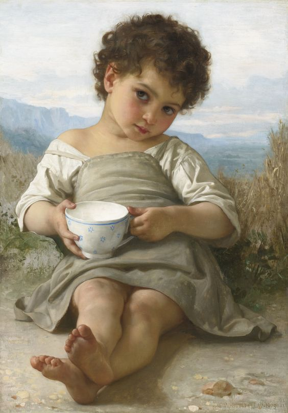 Bougeureau - The Cup of Milk (La Tasse de Lait) 1879: