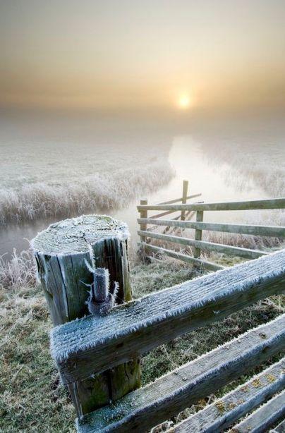 Frosty Sunrise, Isle of Sheppey, England  photo via aberrantbeauty: