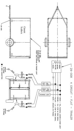 Trailer Wiring Diagram 4 Wire Circuit | trailer ideas | Pinterest | Wire, Tech and Trailers