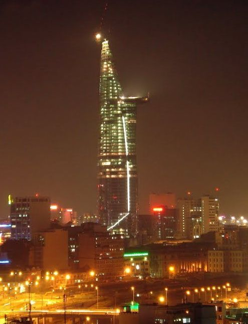 Bitexco Financial Tower at night