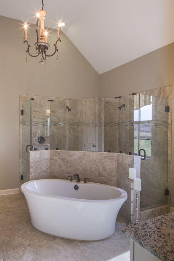 Regency Homebuilders Master Bath Drop In Tub Walk