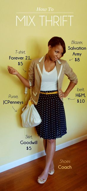 Mixing thrift store clothing with your wardrobe:
