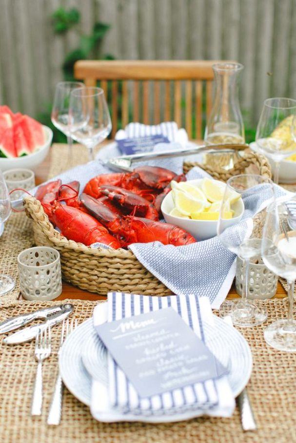 Summer lobster dinner: