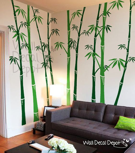 bamboo wall decals tree wall decal wall sticker vinyl on wall stickers painting id=49581