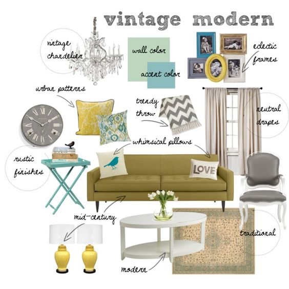 Vintage Modern Living Room By Mrsraquelm On Polyvore A