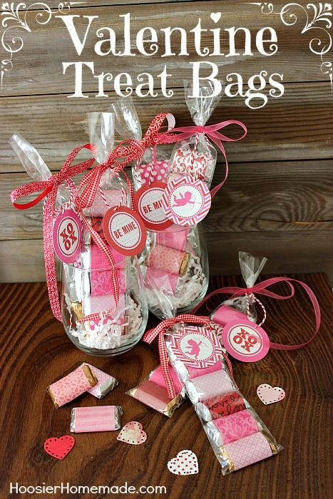 Easy Valentine Treat Bags Crafting Bags And Classroom