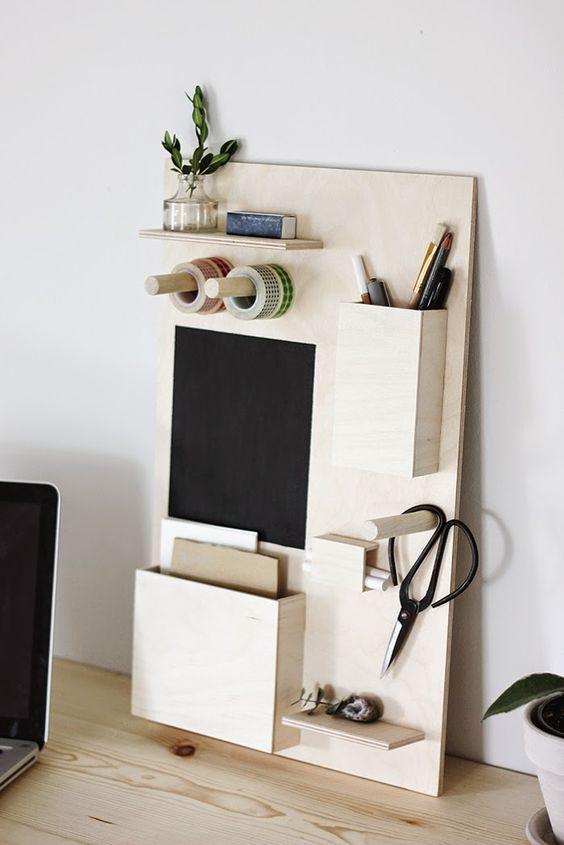 DIY: desk organizer: