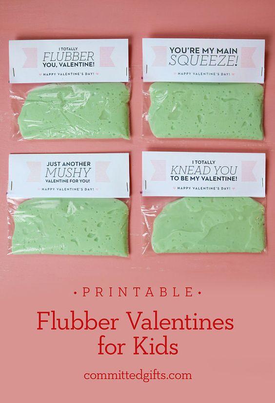 Printable Flubber Valentines For Kids DIY Cards For
