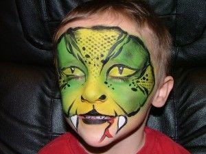 More lizard man face paint | Happy Halloween | Pinterest ...