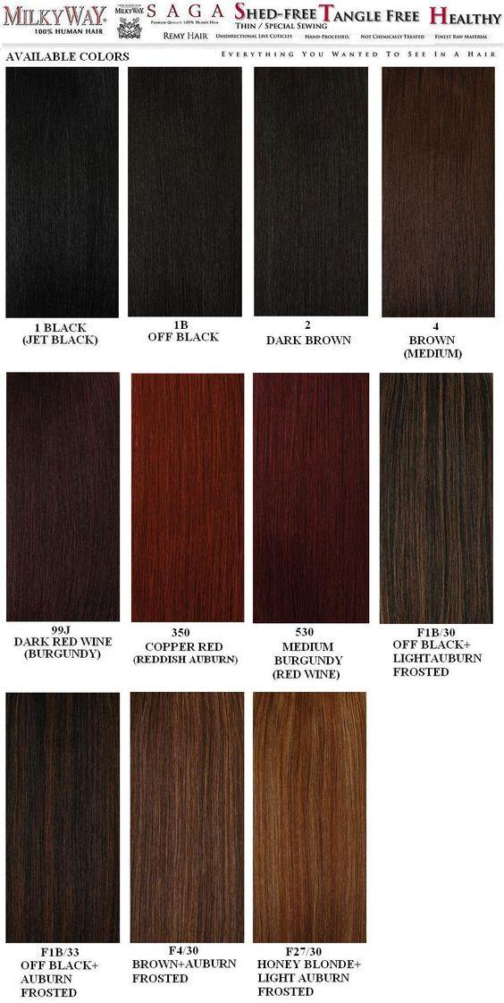 Weave Hair Color Chart Sovinsl Weave Pinterest Weave