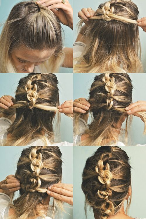 The Knot  Hawk Or a knotted french braid Hight five for a