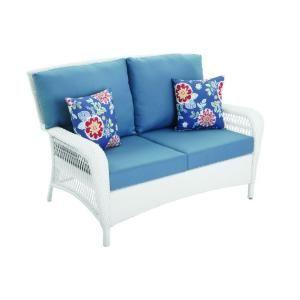 For the patio—Martha Stewart Living Charlottetown White ... on Martha Stewart Wicker id=15768