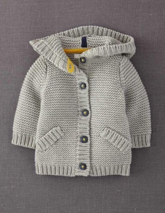 casaco para criança em tricot: