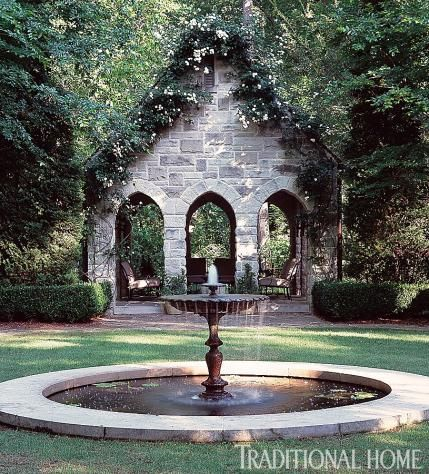 romantic garden fountain Pinterest • The world's catalog of ideas