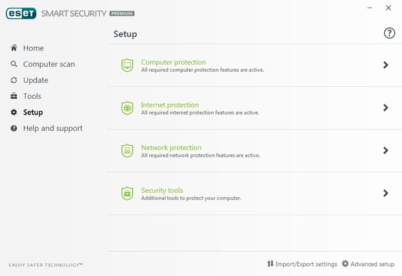 ESET Smart Security Premium Screens