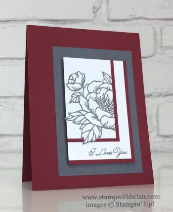Birthday Blooms, Sealed with Love, Stampin' Up!, Brian King, PP328, CTS205, Valentine's Day card:
