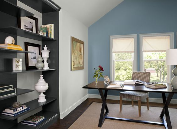 interior paint ideas and inspiration accent walls cozy on home office paint schemes id=22563