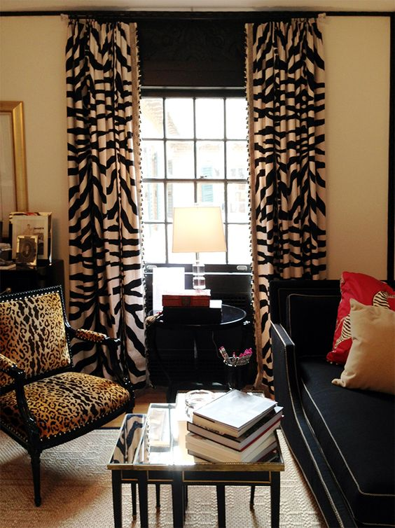 Animal Prints Animals And Curtains On Pinterest