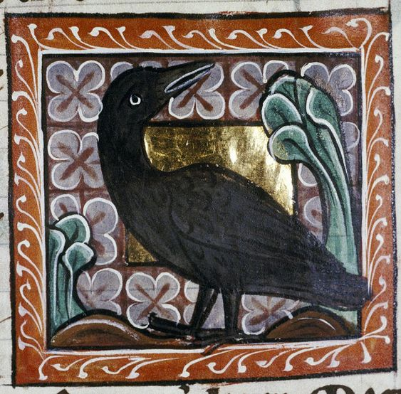 Image result for medieval manuscript eagle and crow and tortoise