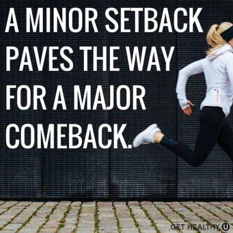 setbacks are comebacks. runner for life! #sports:
