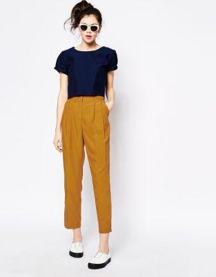Image 1 of Monki Tailored Peg Trouser: