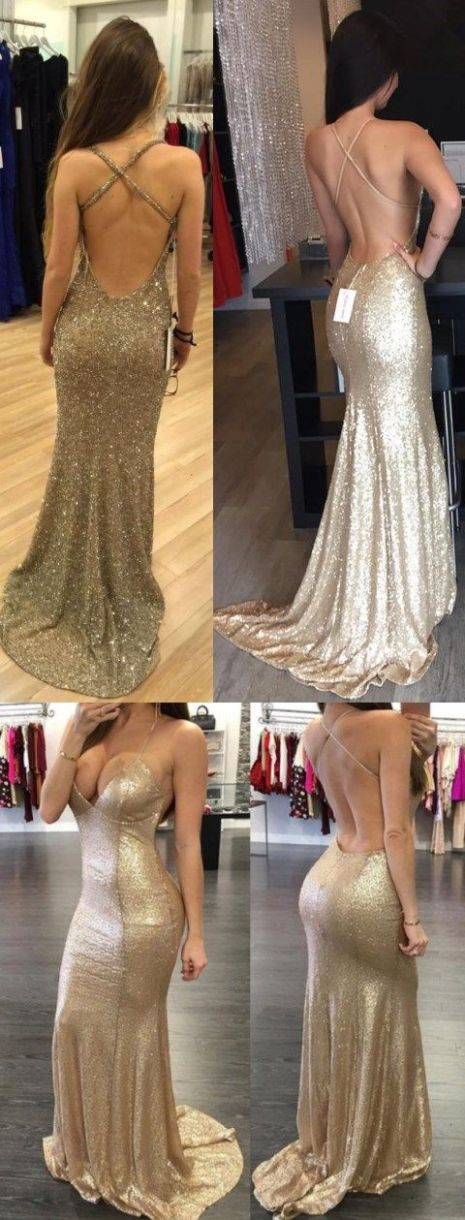 Loads of sparkles are perfect for mermaid prom dresses!