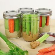 mason jars veggie dippers: