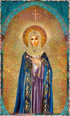 Holy Mother Poster Print by pocketfullofmiracles on Etsy, $18.00. Ooh, I just want to frame this behind some convex glass. Would be so lovely!: