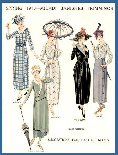 1918; such a pretty year of fashion.: