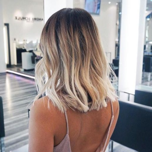Ombre is really cute for long bob hairstyles!