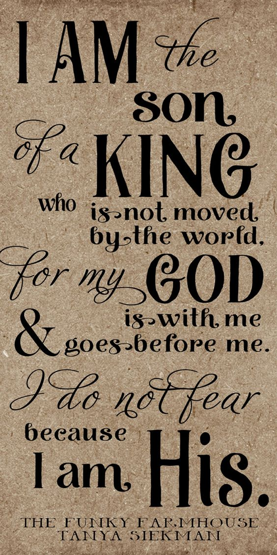 Download SVG, DXF & PNG - I am the son of a king who is not moved ...