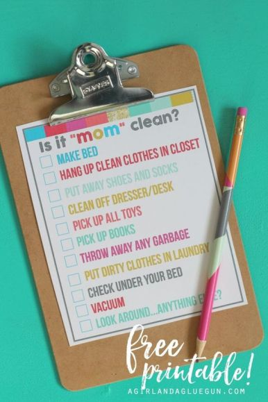 great kids printables to help them keep their room organized and clean up to mom standards-- a girl and a glue gun: