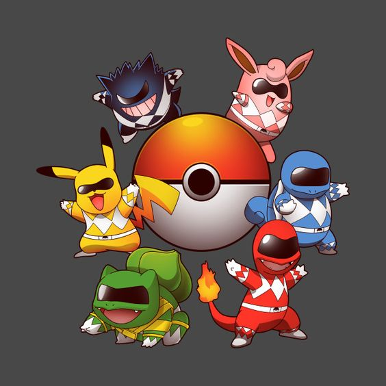 GO GO POKE RANGERS 2.0 T-Shirt - Pokemon T-Shirt is $11 today at TeeFury!: