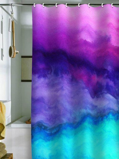 Watercolor Decor Shower Curtain Bathroom Back Brush Interior Design Trends