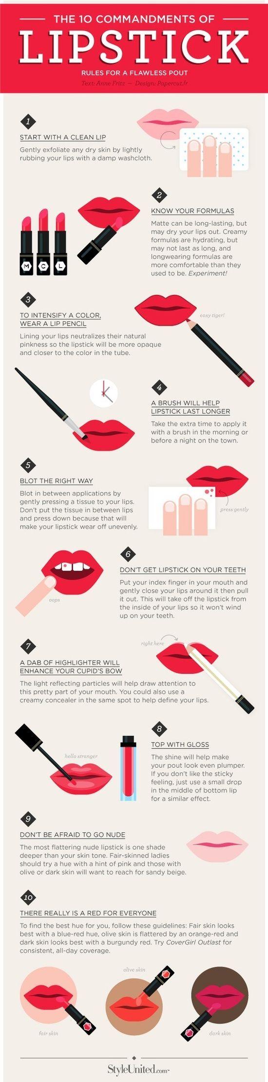Perfect Lip Stick Techniques: