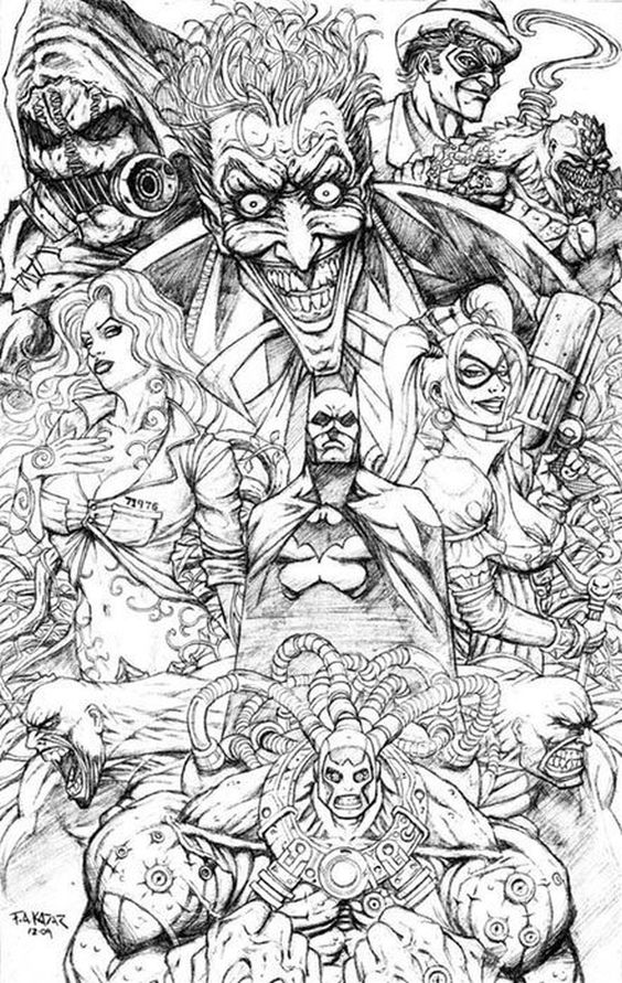 free printable suicide squad coloring pages for adults